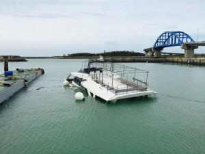 石垣島で台風で船が沈没